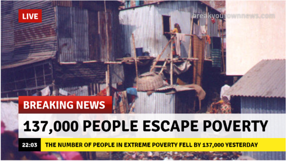 137,000 people escape poverty Breaking News
