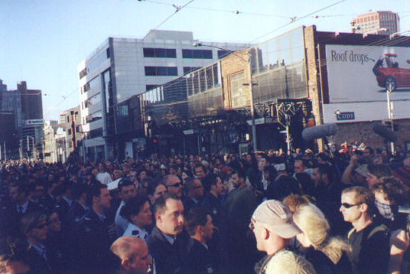 Anti WEF Protest Melbourne Alcock 2000