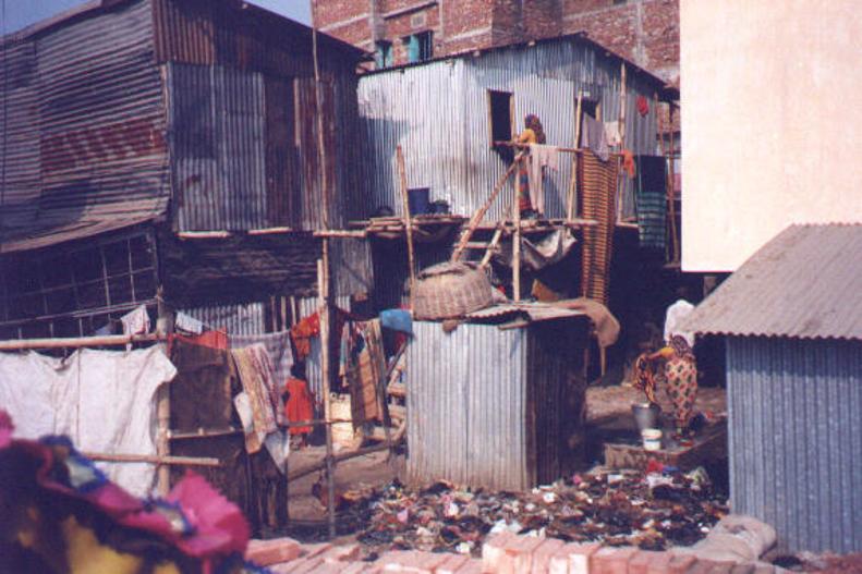 Dhaka slum picture Alcock 2001