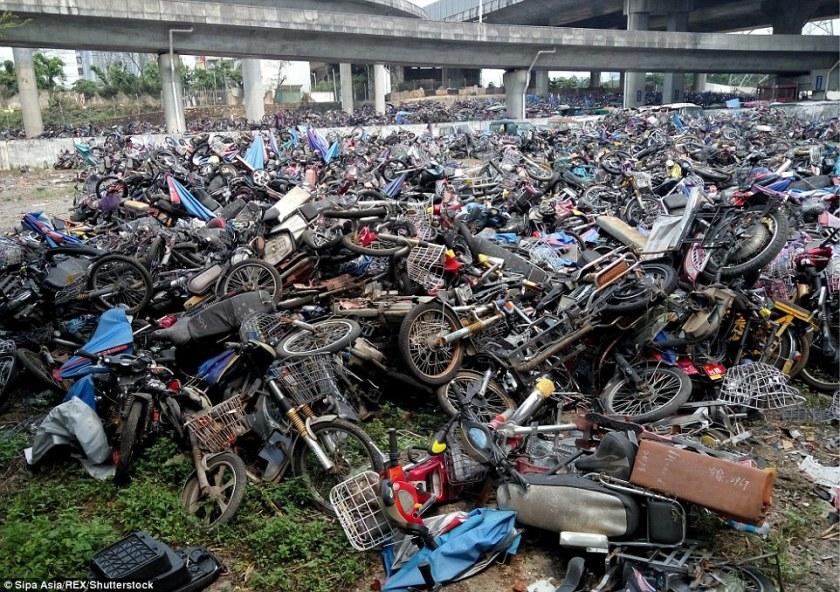 Motorbike graveyard China